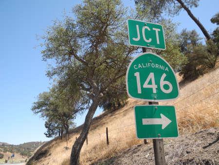 jct: California 146 road sign, USA