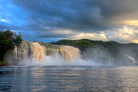 Gorgeous Waterfall in the Midday Time in Canaima