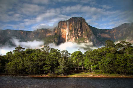 the magnificent: Angel Falls - the highest waterfall on Earth - in morning light