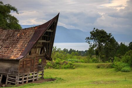 sumatra: Traditional Batak house in Northern Sumatra