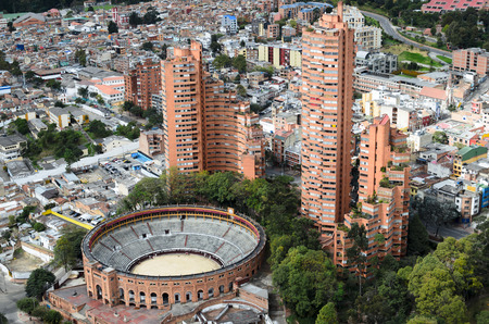 colombia: Aerial view to Bogota city