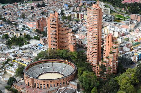 Aerial view to Bogota city