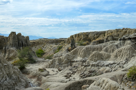 sandstone: Canyon of gray sandstone - beauty of nature