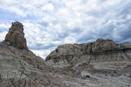 sandstone: Amazing sandstone formation in a desert