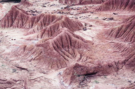 sandstone: Unreal sandstone terrain of a desert