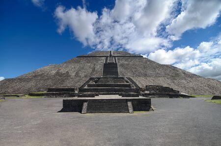 Impressive Pyramid of the Sun in Teotihuacan