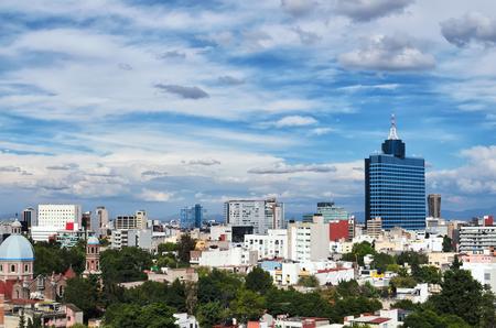 comercio: Vista a�rea de M�xico-ciudad Foto de archivo