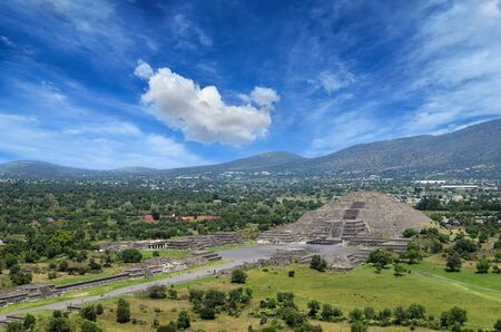ruins: Teotihuacan ruins Stock Photo