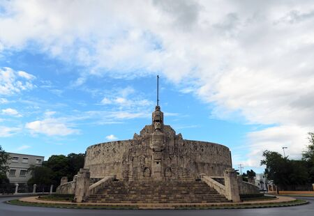 MERIDA, MEXICO - SEPTEMBER 22, 2015: Homeland monument at Paseo de Montejo.