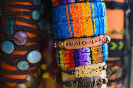 wristband: Hand-made wristband with sign Guatemala on it
