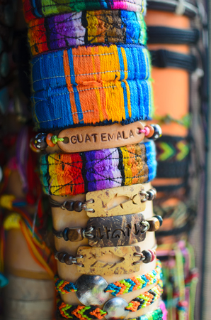 wristbands: Hand-craft wristbands pf various types and colors Stock Photo