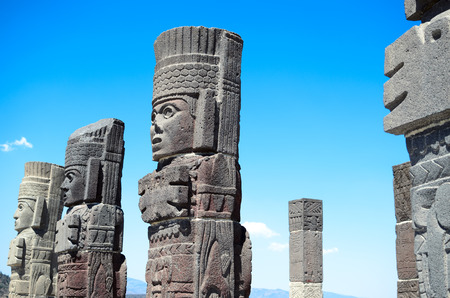 Atlantean figures at the archaeological sight in Tula
