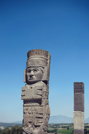 Atlantean figure at the archaeological sight in Tula Stock Photo - 56486939
