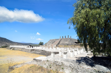 View to the Toltec ruins in Tula Stock Photo - 56486941