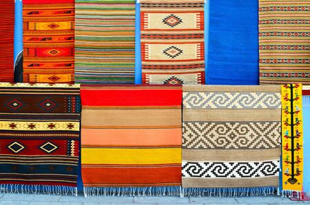 oaxaca: Numerous authentic covers at display at the market in Oaxaca