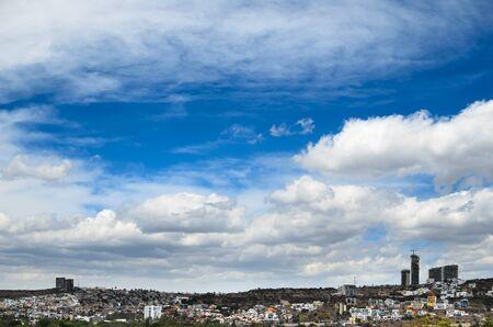 arhitecture: View to cityline of Queretaro city