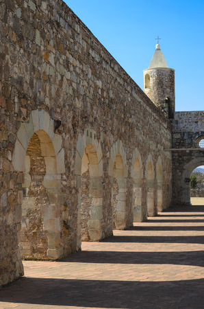 convento: View to the yard of Convento de Cuilapam in Oaxaca