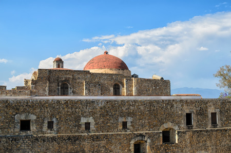 convento: View to the Convento de Cuilapam in Oaxaca Editorial