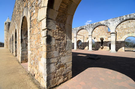 convento: View to the yard of Convento de Cuilapam in Oaxaca