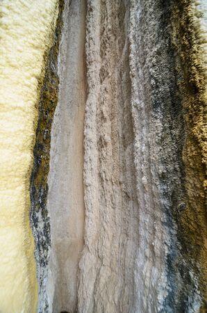 petrified: Wall of Petrified waterfall in Mexico