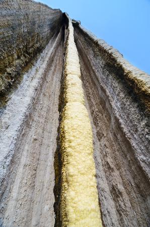 petrified: Bottom-up view to Petrified waterfall