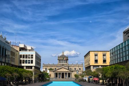 GUADALAJARA, MEXICO, MAY 17, 2016: View to Hospicio Cabañas in the downtown Editorial