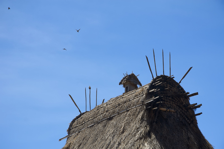 Roof of indigenous house in Indonesia Stock Photo