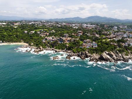 Aerial view to Puerto Angelito beach in Puerto Escondido Reklamní fotografie