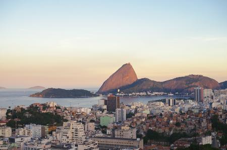Rio de Janeiro at the sunset