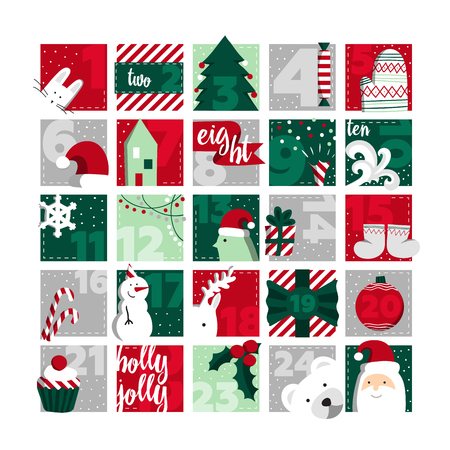 Advent calendar. Stock Illustratie