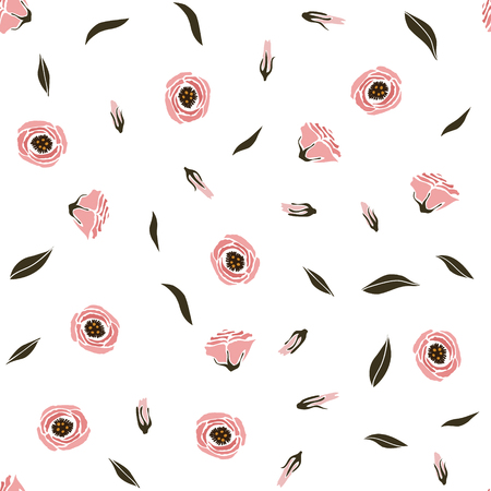 Pattern with an eustom flowers