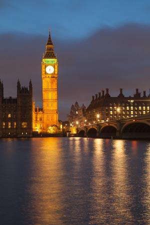 The Palace of Westminster Big Ben at night, London, England, UK