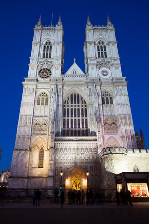 middleton: Westminster Abbey at night, London, England, UK. Editorial