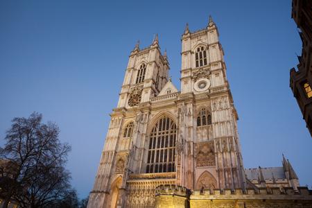 middleton: Westminster Abbey at night, London, England, UK. Stock Photo
