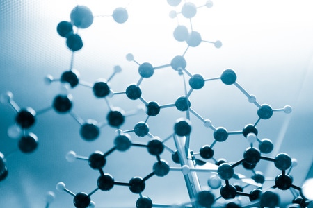 medicina: Estructura de Ciencia Molecular ADN Modelo, concepto de negocio