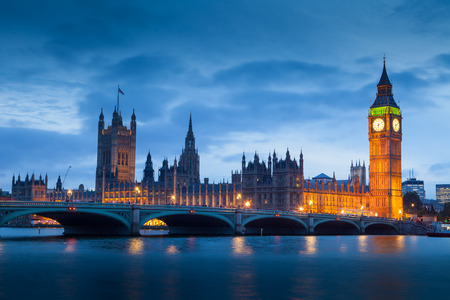 uk: The Palace of Westminster Big Ben at night, London, England, UK