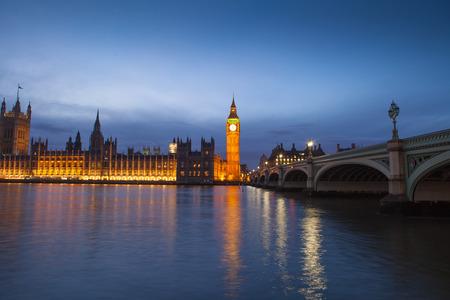 The Palace of Westminster Big Ben at night, London, England, UK photo