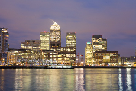 Windows of Skyscraper Business Office, Corporate building in London City, England, UK photo