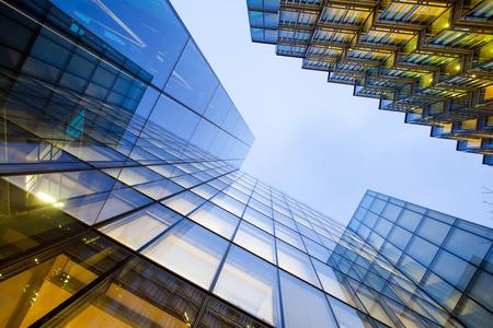 modern buildings: Windows of Skyscraper Business Office, Corporate building in London City, England, UK