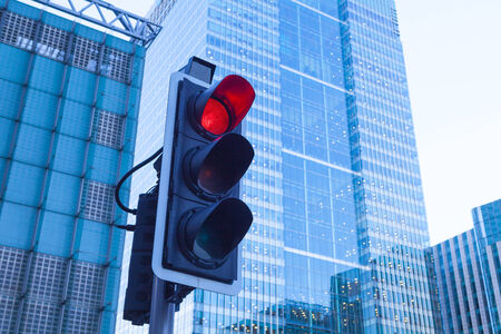 traffic signal: Green, Yellow and Red Traffic Light in the London city