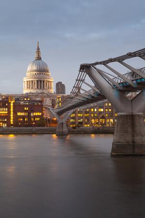 paul: Millennium bridge and St. Paul, London