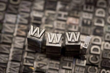 letterpress: Internet www website by letterpress