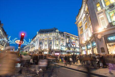 oxford: LONDON, ENGLAND, Oxford street on sale season after Christmas. Editorial