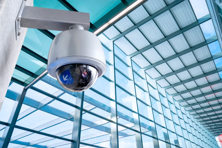 Security Camera, CCTV on location, airport Stock fotó - 36031278