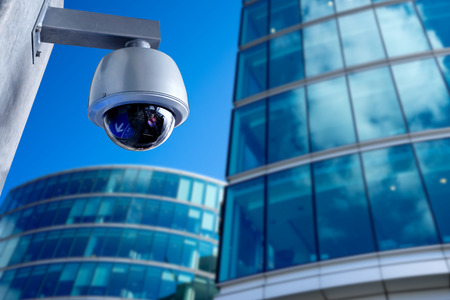 Security CCTV camera in office building Banco de Imagens - 36031380