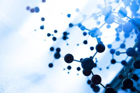 genetica: Scienza Molecule Modello DNA Structure, concetto di lavoro di squadra Archivio Fotografico