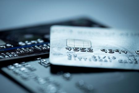 Creditcard online winkelen betaling Stockfoto