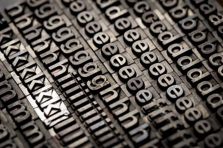 letterpress: vintage letterpress alphabet and number background