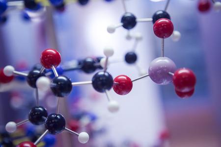 struktur: Science Molekylär DNA modellstruktur, affärsidé Stockfoto