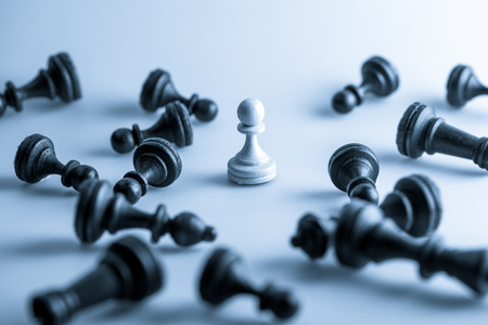 chess move: Chess figure, business concept strategy, leadership, team and success
